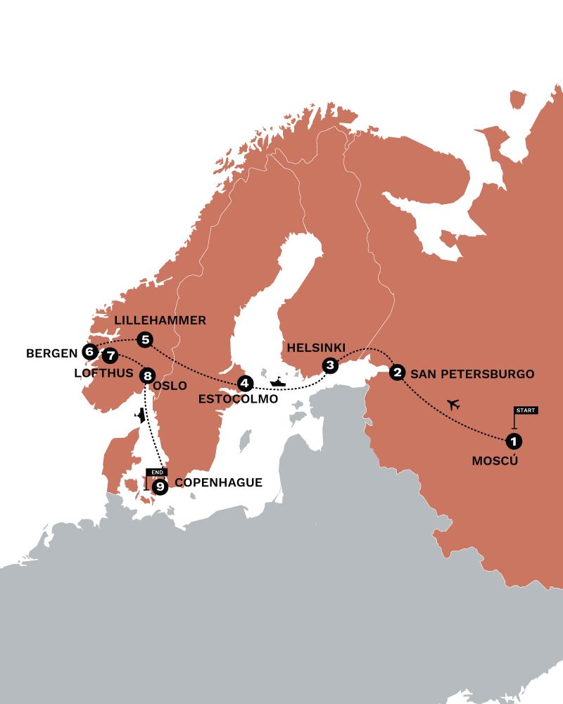 Rusia y los fiordos norguegos SATO TOURS